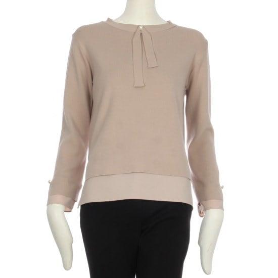 チンウォンイエンシ正常価格129000、割引率47EnC配色晋州リボン装飾ニットENKT ニット/セーター/カラーニット/韓国ファッション