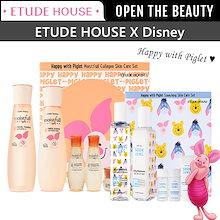 [ETUDE HOUSE]ピグレット限定エチュードハウスモイストフルコラーゲンセット(2種セット)/化粧水+乳液+ミニチュア/企画セット/おまけ付き/韓国