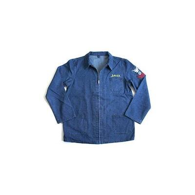 アメリカ軍 デニムジャケット/スーベニアジャケット 〔 36/Sサイズ 〕 JJ151YNE M デニム刺繍 〔 レプリカ 〕