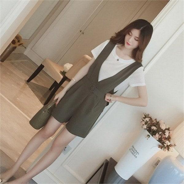 hlr07ミエルつなぎセットセット商品つなぎ、半そでnewsrcLangTypeko 女性ニット/カーディガン/韓国ファッション