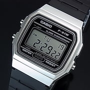 9f3d1db2d4 CASIO/Standard【カシオ/スタンダード】アラームクロノグラフ メンズ腕時計 ボーイズサイズ 軽量・薄型デジタルモデル シルバーケース  ブラックラバーベルト 海外 ...