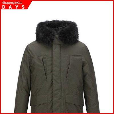 AXUAW18393KHXソリッドラクーンFURグースダウンジャンパー(ポルラレハーフ版) /デニムジャケット/ジャケット/韓国ファッション