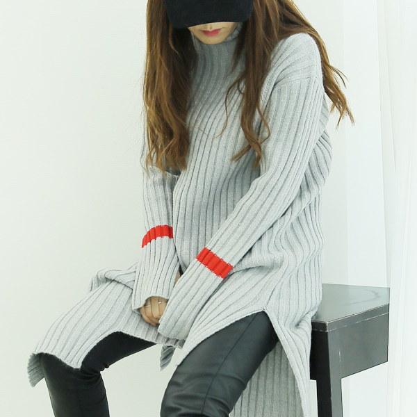 【海外直送】ロングスリーブハイネックニット フリーサイズ 韓国ファッション レディースファッション