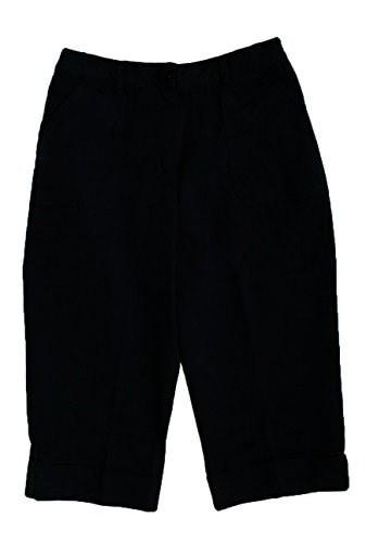 Alfred Dunner Coral Gabels Black Capri Size 10 Petite