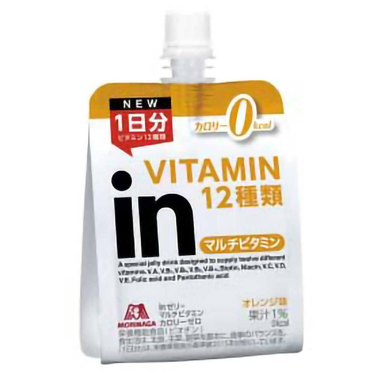 ミズノ (MIZUNO) 森永 inゼリー マルチビタミン カロリーゼロ(オレンジ味) 36JMM84100 [分類:プロテイン タブレット・他]