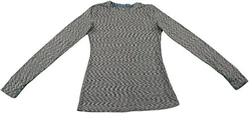 Cuddl Duds Womens Warm Layer Active Tech Crew Shirt - Small (Grey Space)