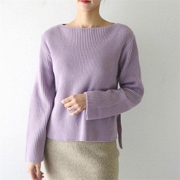 リボンニート4colornew 女性ニット/ラウンドニット/韓国ファッション