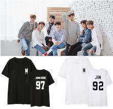 K-POP 衣装 BTS 半袖 Tシャツ韓国 BTS 服 防弾少年団 服 韓国ファッション応援服 韓流グッズ シャツ 応援グッズ タジャン 上着 運動ジャージ 野球服 韓流スター BTS 着用