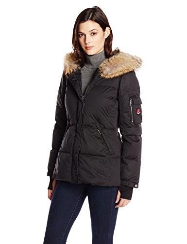 Pendleton Heritage Womens Hooded Down Coat, Black, Medium