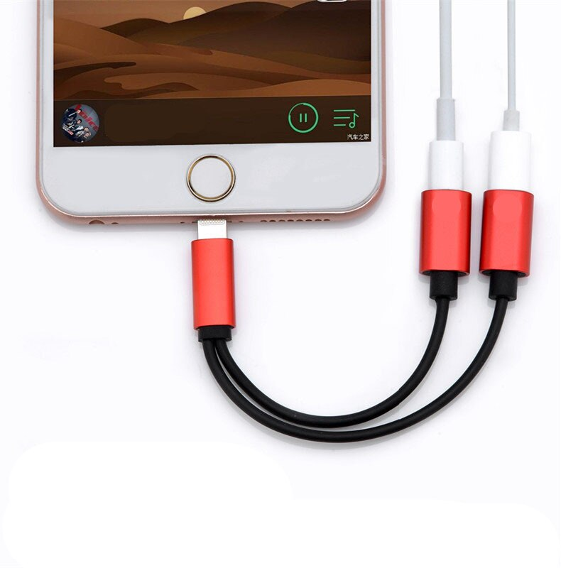 送料無料 iPhone 変換 ケーブル 8/X/7/plus 2in1 Lightning コネクタ ライトニング変換 ジャック 充電/データ転送/通話可能 IOS 11.3対応 S3163-FT