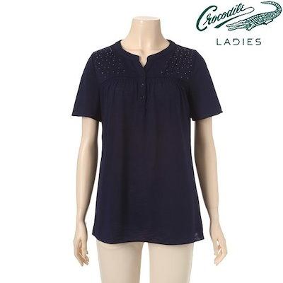 のクロコダイル・レディーホットフィックスシャーリング・ティーシャツCL7MTS236 ティーシャツ / ソリッド/無知ティーシャツ / 韓国ファッション