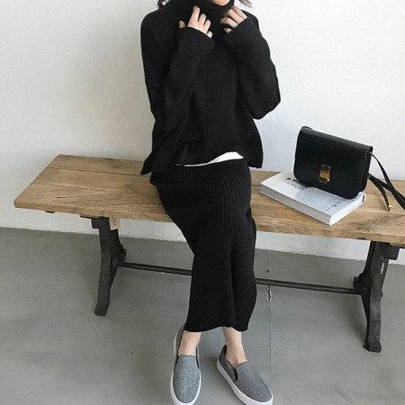 なつポーラニットKorean fashion style