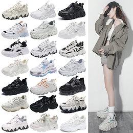 2021夏新作入荷 1枚+1枚靴下 スニーカー 厚底スニーカー 美脚 今日超特価激安セール 韓国ファッション スニーカー レディース 運動靴 ランニング靴 靴 レディース