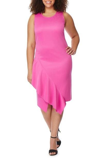 レベル ウィルソン エンジェルズ レディース ワンピース トップス Rebel Wilson x Angels Asymmetrical Hem Ruffle Dress (Plus Size)