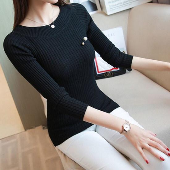 オーサムベルビ真珠ゴルジニット232689 ニット/セーター/ニット/韓国ファッション
