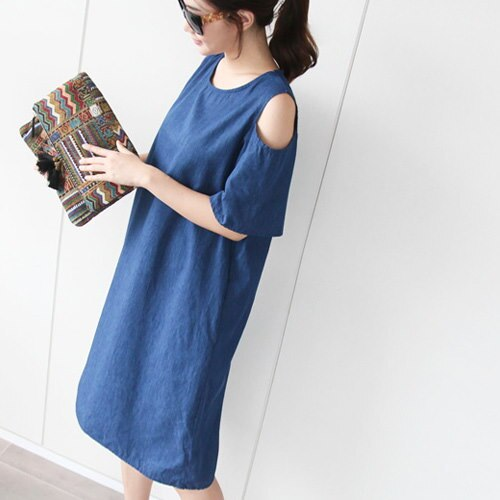 [zoozoom] Denim cotton dress 1color / 23887