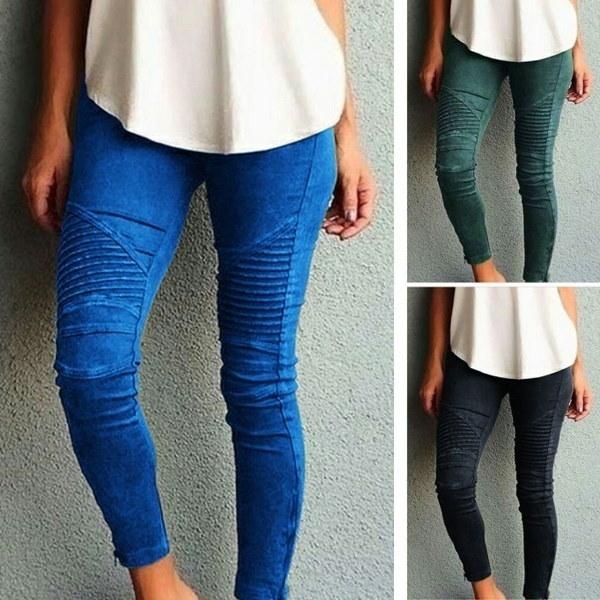 WantLH女性のタイトフィットのパンツプリントスポーツのカジュアルなズボンのステッチパンツの脚