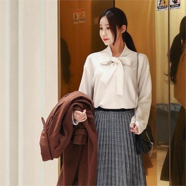 ビックサイズジェイ・スタイル文ライン起毛タイティーシャツnew 女性ニット/ラウンドニット/韓国ファッション