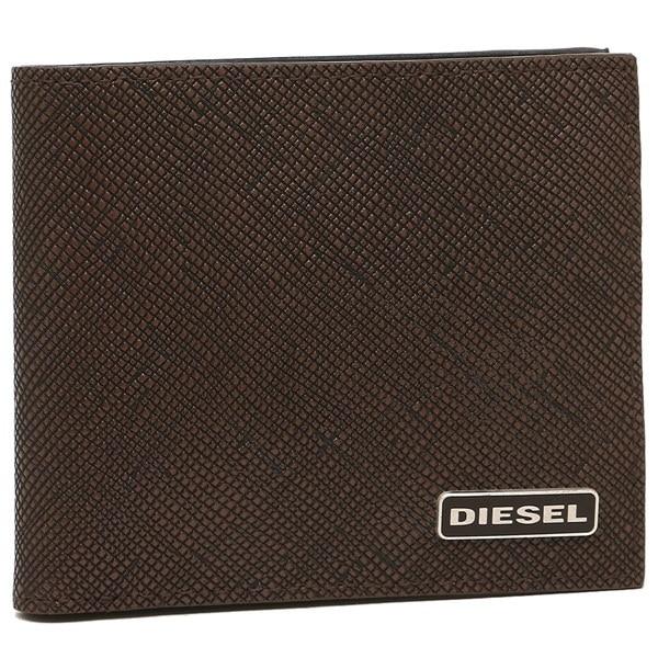 DIESEL 財布 ディーゼル X03344 P0517 H6028 メンズ 二つ折り財布 ブラウン