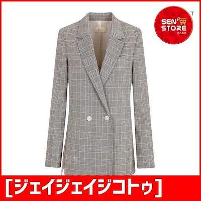 [ジェイジェイジコトゥ](JJジコトゥ)ボタン飾り切開ジャケットGI5A0JK55 /テーラードジャケット/ 韓国ファッション