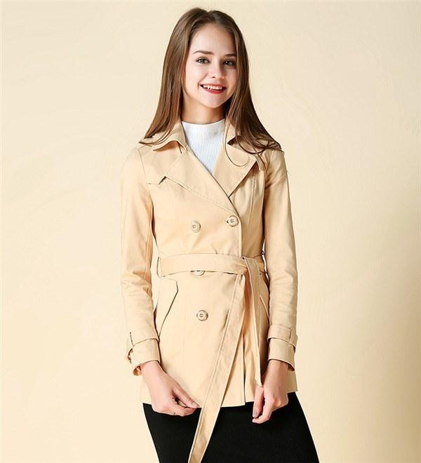 コートレディース トレンチコート ロングコート Wボタン 無地 ファッション 着心地よい 春新作 通勤 きれいめ春コート レディースコート