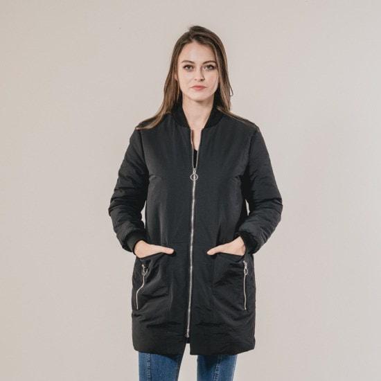 渓谷をポケットディテールパディングジャケット348080 ロングニット/ルーズフィット/セーター/韓国ファッション