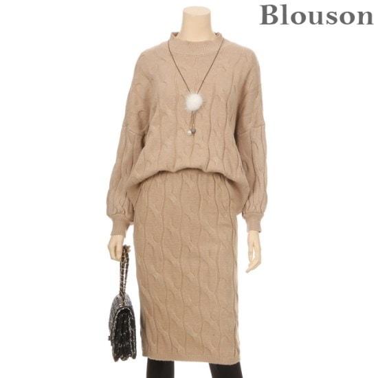 ブルルジョンブルルジョンウールクルーラーニットスカート2種セットB1712SE003D ニット/セーター/ニット/韓国ファッション