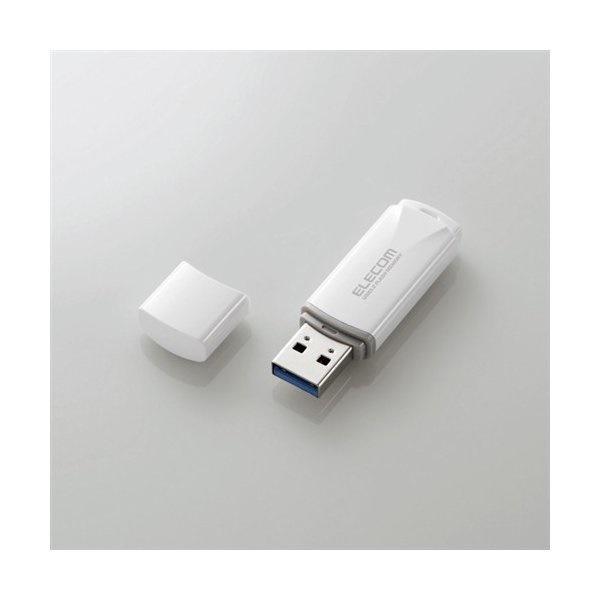 エレコム MF-HTU3B128GWH キャップ式USB3.2 Gen1メモリ ホワイト 128GB