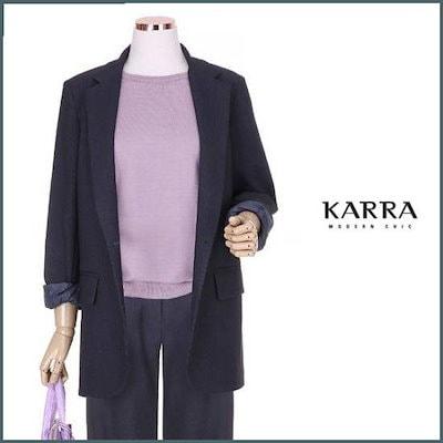 [カラー][ハーフクラブ/カラ]KARRAモダンカラジャケットKBI7JK002A /テーラードジャケット/ 韓国ファッション
