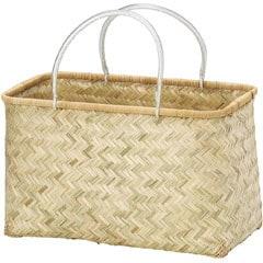 ちどり産業 竹製 バンブー バスケット かごバッグ 28-42NA