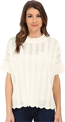 French Connection Womens Iris Knits Sweater, Winter White, Medium