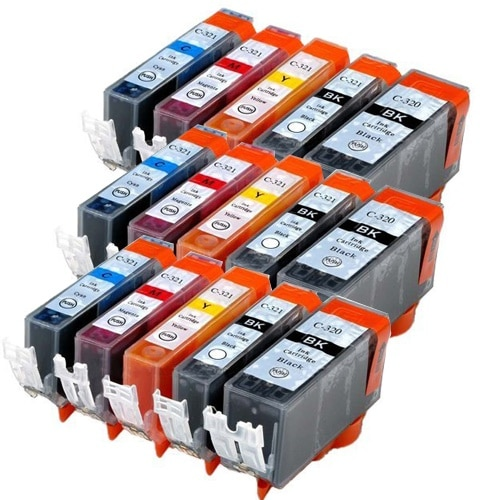 BCI-321+320/5MP ×3 / 5色セット CANON (キャノン) 互換インク 320のみ顔料他は染料 【対応インク型番】 BCI-320PGBK BCI-321BK BCI-321C B