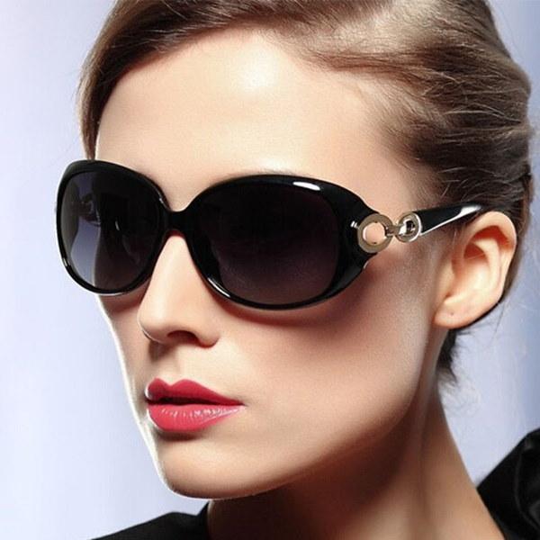 女性のファッションサングラスダブルリングデザインのメガネドライビングサングラス