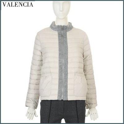 [バレンシア]ニットシボリ配色・グース軽量パディングV7AGE42 / パディング/ダウンジャンパー/ 韓国ファッション