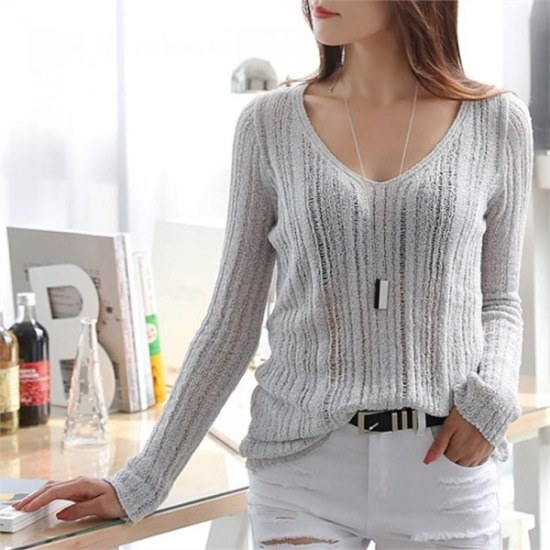 シーフォックス行き来するようにシーフォックスエルラスンknitニート ニット/セーター/ニット/韓国ファッション