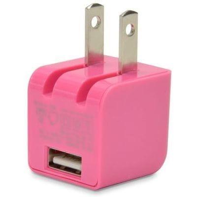 USB充電器 cubeタイプ110 CUBEAC110PK [ピンク]