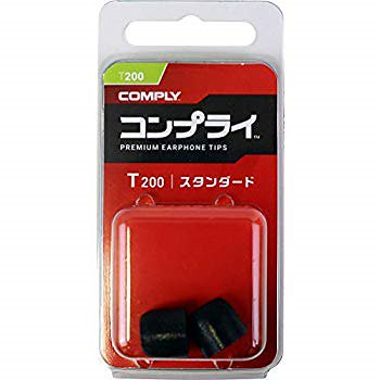 Comply(コンプライ) T-200 ブラック Sサイズ 1ペア スタンダード イヤホンチップス Isolation Sony WF-SP700N, WF-1000X, MDR-XB, B &O Pl
