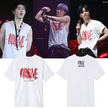 大人気!iKON  CONTINUE TOURコンサート同じデザイン 半袖Tシャツ  韓国ファッション tシャツ  男女兼用  トップス 韓国
