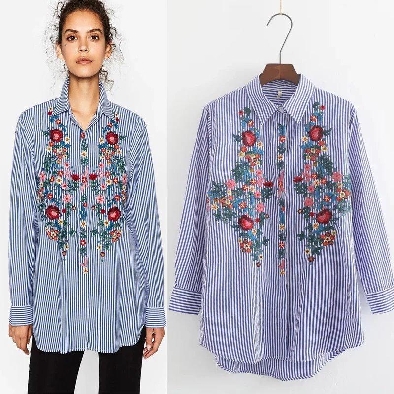 花刺繍スリーブブラウス★トップス レディースシャツ レディースブラウス ファッション フラワー ボタニカル ホワイトシャツ 春の服装