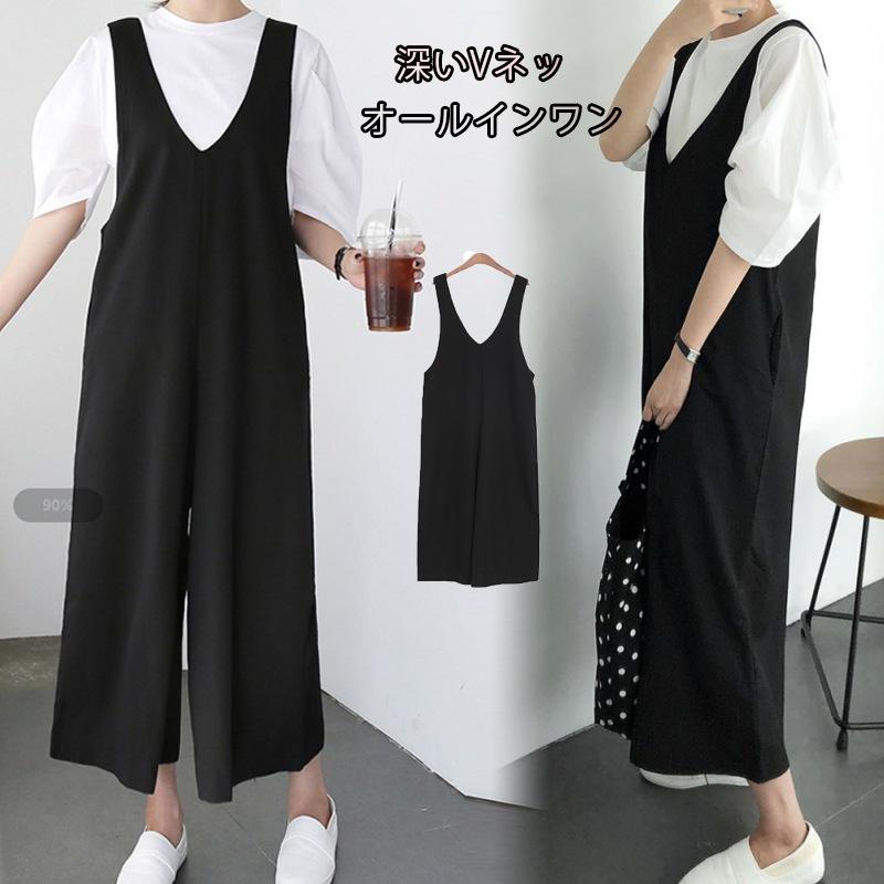 b6a5e82158eadf 韓国ファッションオールインワン サロペット パンツ ロングパンツ レディースファッション 可愛い 普段着 着回し抜群の画像