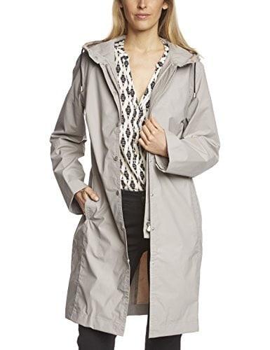 ILSE JACOBSEN Womens Rain 01 Weatherproof Raincoat, Anthracite, Medium