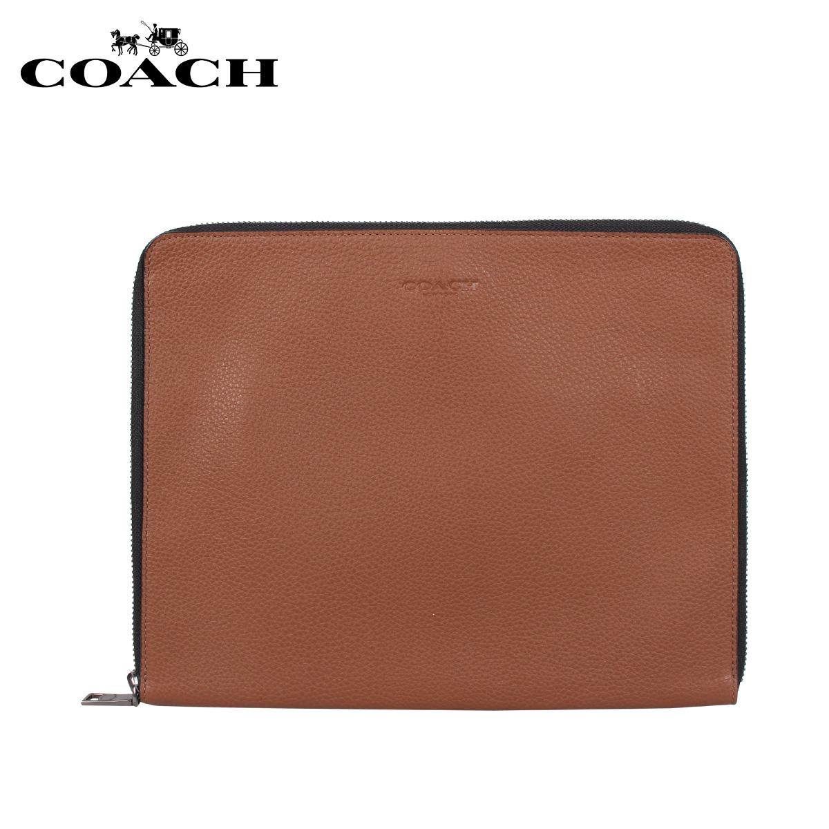 コーチ COACH バッグ クラッチバッグ セカンドバッグ タブレットケース メンズ ブラウン F25473