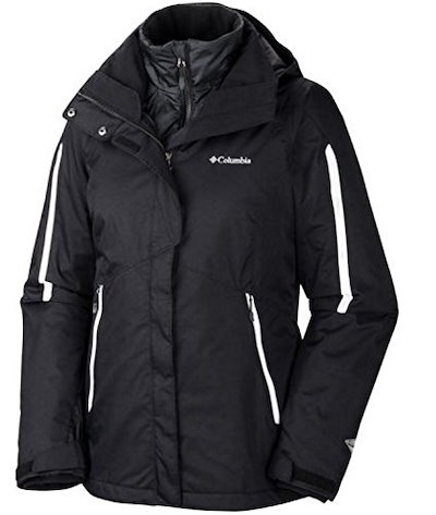 Columbia Womens Arctic Trip Interchange Jacket (Medium, Black)