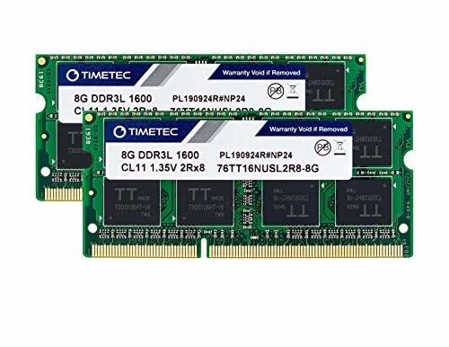 Timetec Hynix IC 16GB(2x8GB) ノートPC用メモリ DDR3L 1600 MHz PC3 12800 1.35v 204 Pin SODIMM Laptop memory u