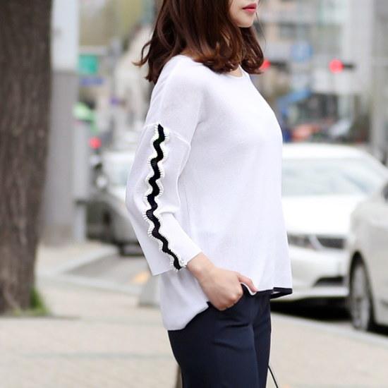 ココアベニューウェーブしわニット70402 ニット/セーター/ニット/韓国ファッション
