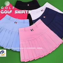 ゴルフウェア レディース ゴルフ スカート インナーパンツ付スカート ミニスカート 丈短め ショート丈  ペチパンツ付属 かわいい おしゃれ 新作