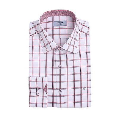 [AK公式ストア]【renoma shirts] RJSSL1-952 RDツートンダブルミディアムチェックシャツ