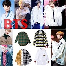 BTS着用長袖ゆったりスタイルシャツ女性でもゆったりで着れます韓国ファッションBTS テテ ジミン ジョングク着用 韓国Tシャツ防弾少年団 公式グッズ ペアルックカップル