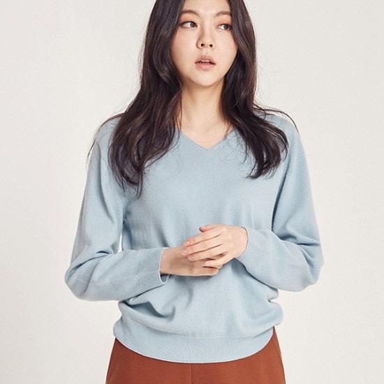 [磁気ジェイ(MAGJAY)]カシミヤVネックニット(J11PNT007) / ニット/セーター/ニット/韓国ファッション