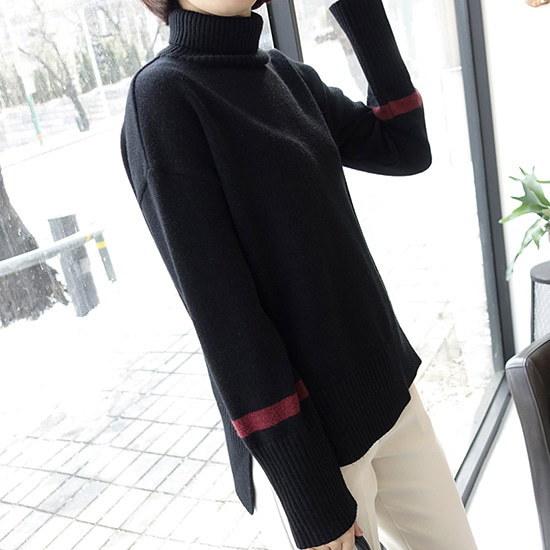 【ミシャプ]ブロスニットプルオーバー(2 color) ニット/セーター/タートルネック/ポーラーニット/韓国ファッション
